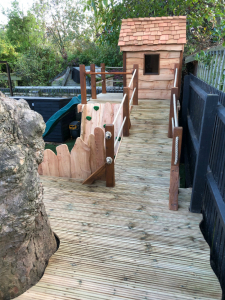 Oak & Larch Play Structure 3 RS